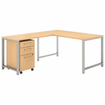 Bush Business Furniture 400 Series 3 Piece L-shaped Desk Office Suite