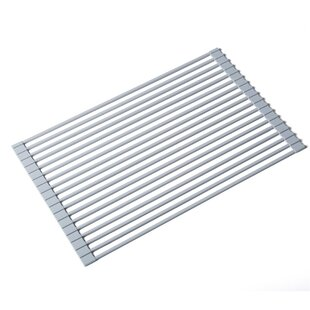 Silicone-Coated Stainless Steel Over the Sink Multipurpose Roll-Up Dish Rack