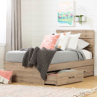 Fakto Twin Platform Bed with Drawers