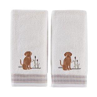 Otha Dogs Cotton Hand Towel (Set of 2)