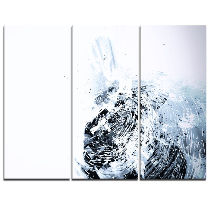 Black And White Abstract Art Set Of 3