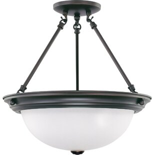 Berchmans 3-Light Semi Flush Mount by Charlton Home