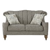Norridge Chenille 64 Rolled Arms Loveseat by Canora Grey