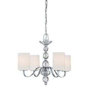 Christena 4-Light Shaded Chandelier by House of Hampton
