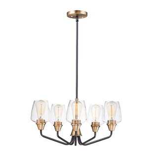 Elick 5-Light Shaded Chandelier by Williston Forge