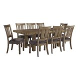 Etolin 9 Piece Extendable Dining Set by Loon Peak®
