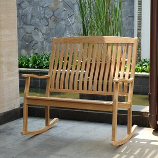 Cynthia Teak Rocking Bench