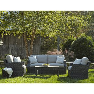 Cascade 4 Piece Sunbrella Sofa Set with Cushions by Klaussner Furniture