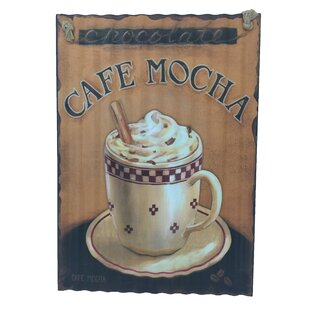 Cafe Mocha And A Coffee Cup Graphic Art On Metal