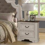 Lilia Oak Wood 2 Drawer Nightstand by One Allium Way®