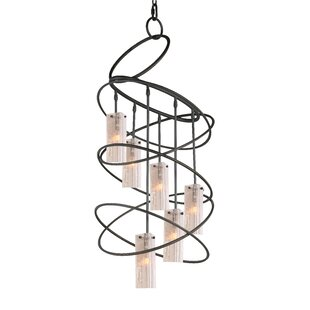 Woodbridge Lighting Loop 6-Light Shaded Chandelier