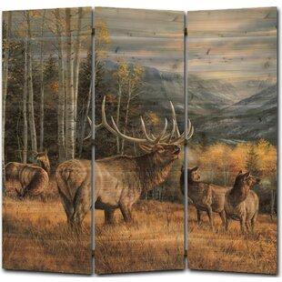Meadow Music Elk 3 Panel Room Divider by WGI-GALLERY