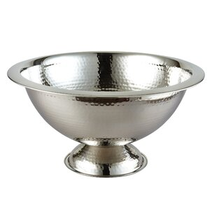 Jemison Hammered Stainless Steel 384 oz. Punch Bowl