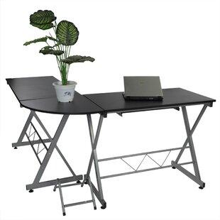 Kaylin Steel Frame Concise Corner L-Shape Computer Desk