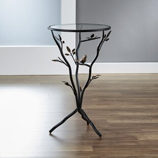 Glass Bird Table with Removable Glass Top by InnerSpace Luxury Products