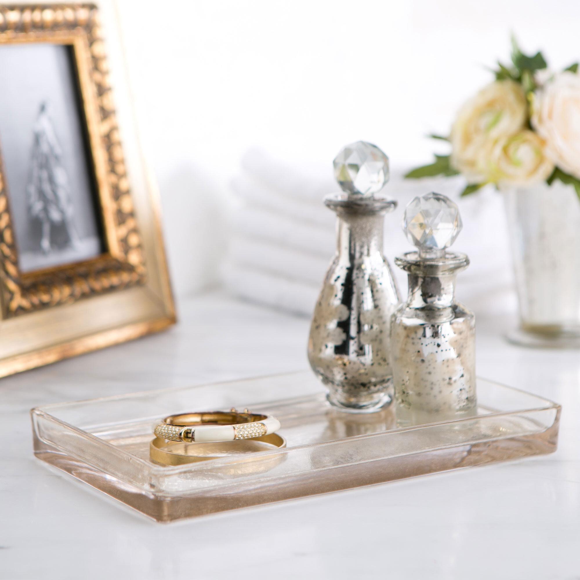 Birch Lane™ Mercury Glass Vanity Bathroom Accessory Tray & Reviews ...
