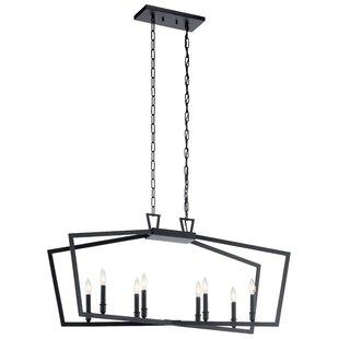 Magness Linear 8-Light Geometric Chandelier by Gracie Oaks