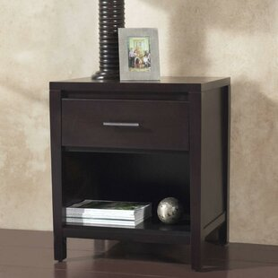 Gallup Wooden 1 Drawer Nightstand by Ebern Designs