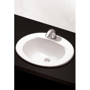 Great Price Ceramic Oval Drop-In Bathroom Sink with Overflow By Toto