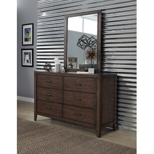 Gracie Oaks Ramiro 6 Drawer Double Dresser with Mirror