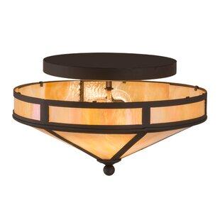 Craftsman Prime 2-Light Semi-Flush Mount by Meyda Tiffany