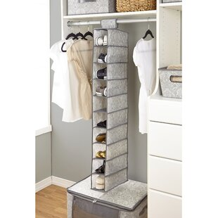 Look for Almeida 10-Compartment Hanging Shoe Organizer By Laura Ashley