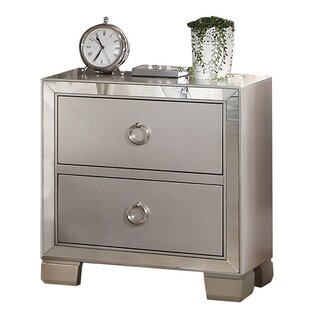 Isai 2 Drawer Nightstand by Rosdorf Park