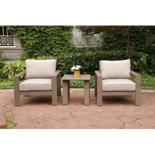 Otega 3 Piece 2 Person Seating Group with Cushions by Orren Ellis