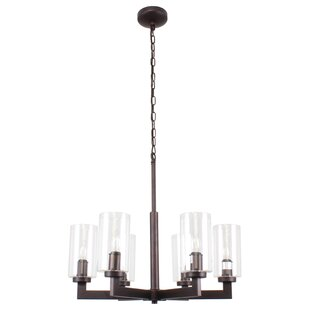 Millwood Pines Sean Farmhouse 6-Light Sputnik Chandelier