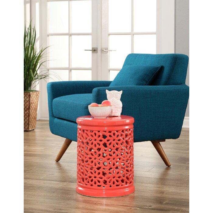 Enjoyable Burkholder Floral Cutout Garden Stool Machost Co Dining Chair Design Ideas Machostcouk