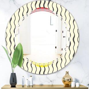 Wave Pattern Triple C Modern Frameless Wall Mirror by East Urban Home