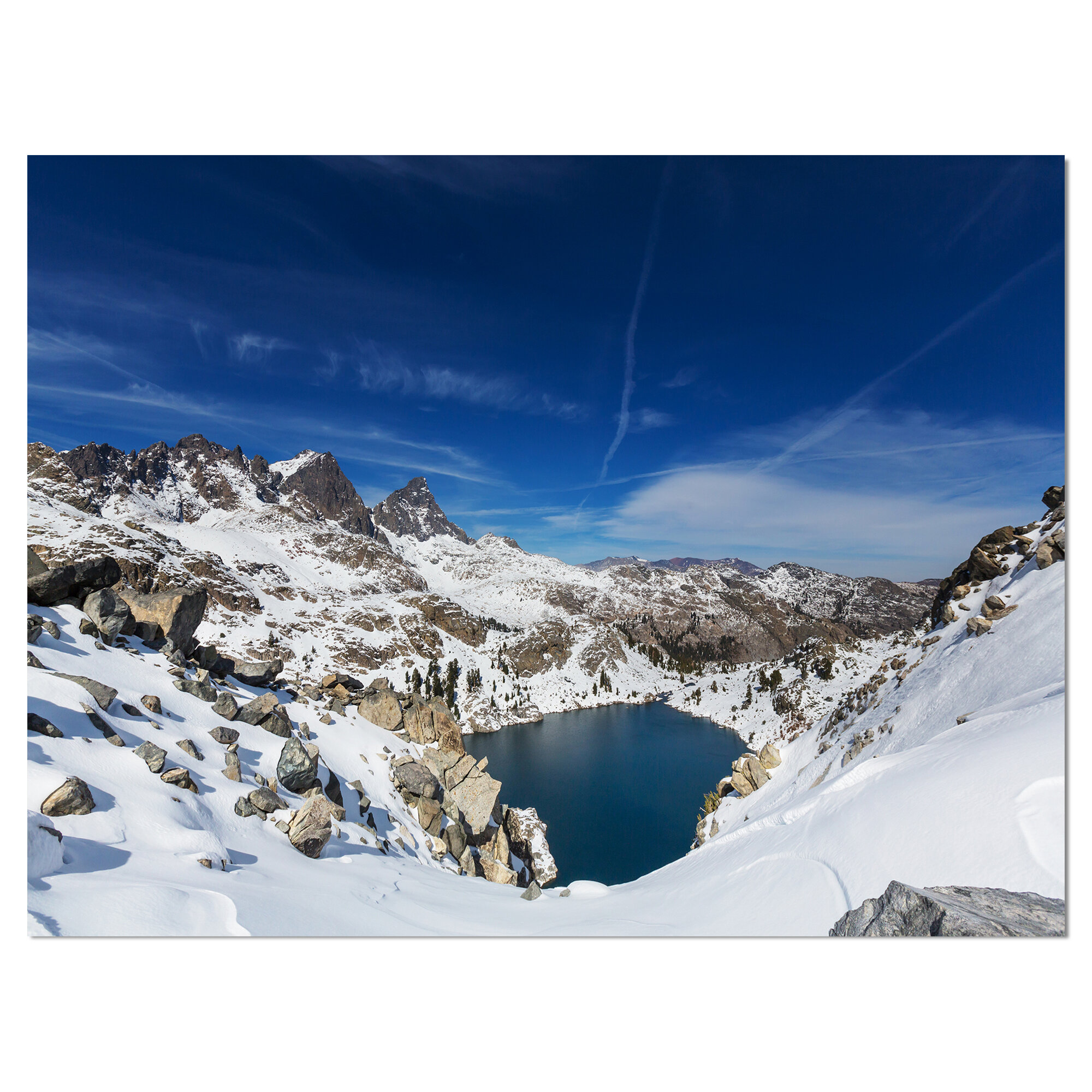 East Urban Home Sierra Nevada Mountains Under Blue Sky Photographic Print On Wrapped Canvas Wayfair