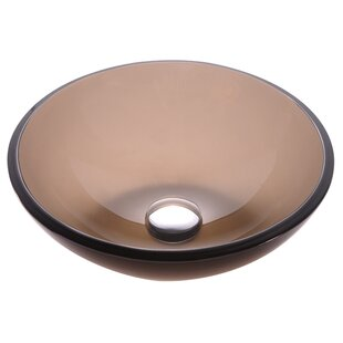 Kraus Clear Glass Glass Circular Vessel Bathroom Sink
