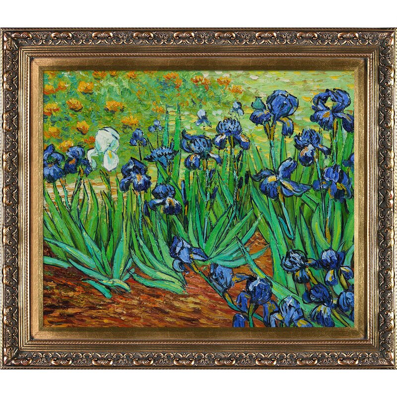 Tori Home Irises By Vincent Van Gogh Framed Painting