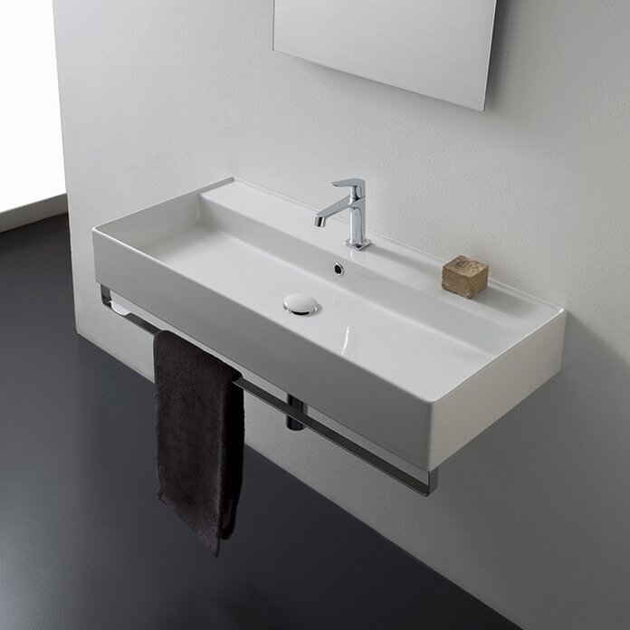 American Standard 4867.004.020 Regalyn 19-by-17-Inch Enameled Cast Iron Wall  Hung Sink with 4-Inch Faucet Spacing, White - Wall Mounted Sinks -  Amazon.com