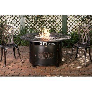 Bellante Aluminum Propane Fire Pit Table by Fire Sense Today Sale Only