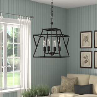Laurel Foundry Modern Farmhouse Osburn 4-Light Geometric Chandelier