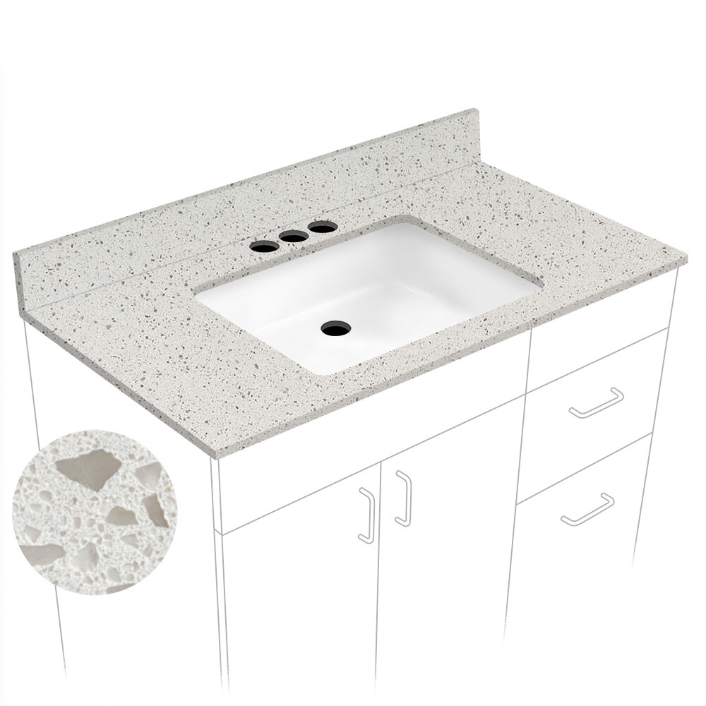"4"" Single Bathroom Vanity Top with Sink"