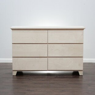 Flat Shaker 6 Drawer Double Dresser by Gothic Furniture