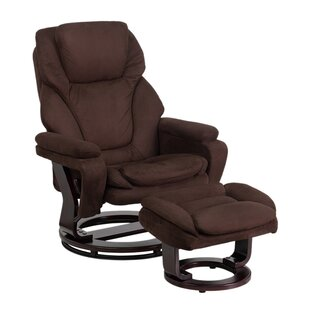 Jeannetta Manual Swivel Recliner with Ottoman by Latitude Run