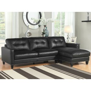 Elverson Leather Reversible Sectional by Red..