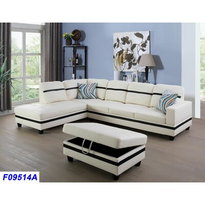 Incredible Andover Mills Russ Sectional With Ottoman Orientation Left Alphanode Cool Chair Designs And Ideas Alphanodeonline