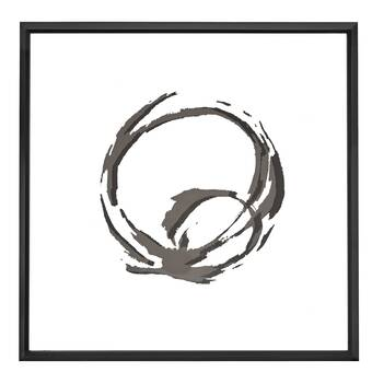Majestic Mirror Square Black And White Abstract Circle Art With