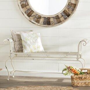 Lark Manor Lemire Iron Bedroom Bench