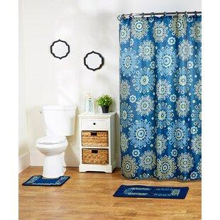 Buy clear Shaelyn 15-Piece Shower Curtain Set ByWinston Porter