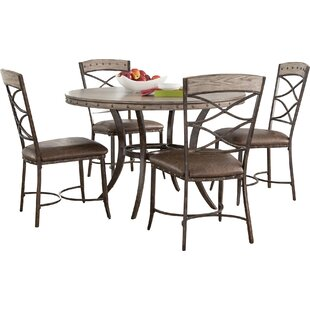 Luxton 5 Piece Dining Set Loon Peak