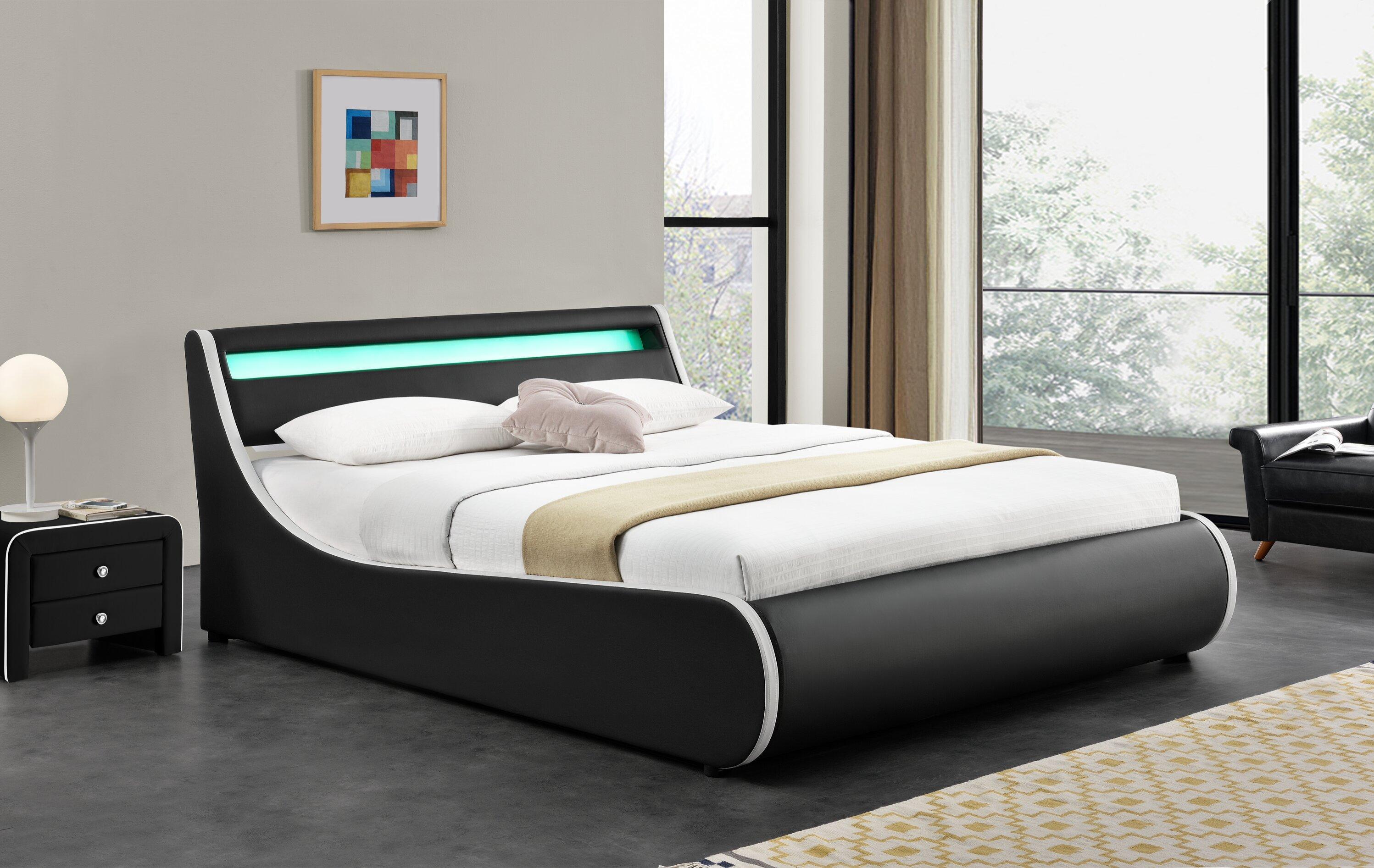 Perth Upholstered Low Profile Storage Platform Bed