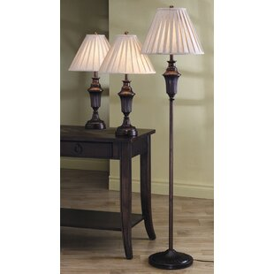 Astoria Grand Roosevelt Athens 3 Piece Table and Floor Lamp Set