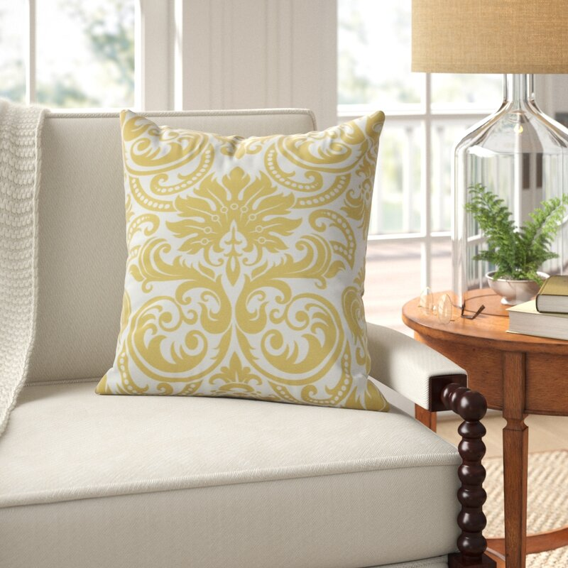 Ballentine Damask Square Pillow Cover And Insert Reviews Birch Lane