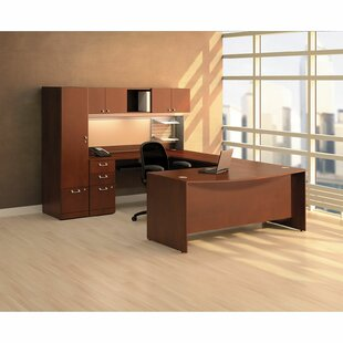 Bush Business Furniture Quantum Bow Desk Office Suite